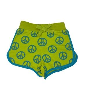 (B💲4)BabiesRUs Infant Girls Peace Sign Shorts